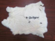 WHITE W/SPOTS RABBIT FUR PELTS TANNED EXCELLENT FOR CRAFTS SEWING