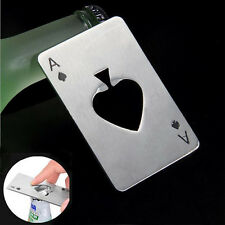 Bar Tool Bottle Soda Beer Cap Opener Wine Playing Card Ace of Spades Poker AC