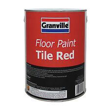 Granville Floor Paint Industrial Garage Concrete Metal Timber 5L - TILE RED