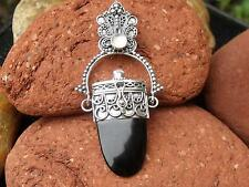 SILVERANDSOUL BLACK ONYX MOONSTONE PRAYER/GHAU BOX PENDANT 925 SILVER