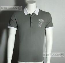 NEW VERSACE COLLECTION = XL EXTRA LARGE =  MEN'S HALF MEDUSA GRAY POLO SHIRT