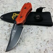 "6"" ELK RIDGE TACTICAL PAKKAWOOD Hunting Fixed Blade Survival Knife w/ SHEATH"