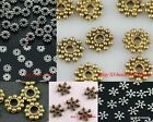 New 6/7/8mm Tibetan Antique Silver Charm Flower Daisy Spacer Beads Findings