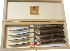 CLAUDE DOZORME Laguiole French STEAK KNIFE EXOTIC WOOD Valentine Gift Box Set