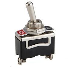 5 x Interruptor Conmutador 2 Posiciones On-Off 12V Negro Plata