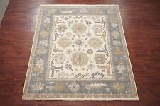 Veg' Dye 8X10 Oushak Hand-Knotted Area Rug Oriental Wool Rug (8.2 x 9.11)