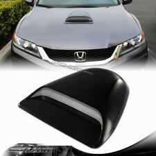 JDM Sport Racing Black Front Air Flow Hood Scoop Vent Bonnet Cover For Acura