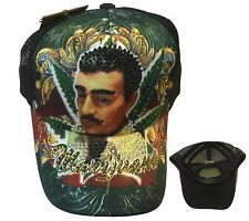 TATTOO Jesus Malverde Skull Rhinestone Trucker Mesh Fashion Ball Cap Hat