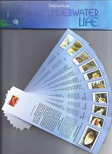 Bookmarks depicting stamps UNDERWATER LIFE  theme