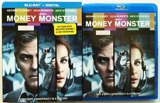 MONEY MONSTER BLU RAY + SLIPCOVER SLEEVE FREE WORLD WIDE SHIPPING GEORGE CLOONEY