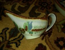 Mexico hand painted gravy boat blue accents table setting collection Spanish EUC