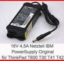 IBM NETZTEIL 16 VOLT 4,5 AMPERE THINKPAD 600 600e 600x T21 T22 T30 T43 T42 -N15