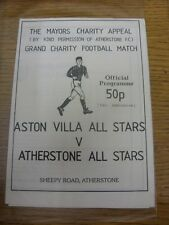 09/11/1986 Atherstone All-Stars v Aston Villa All-Stars [Mayors Charity Appeal]