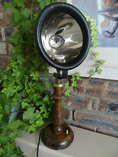 Antique table lamp from old reflector car, unique design, perfect for loft apart