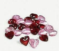 20 x 12mm Mixed Pink and Red Foil Glass Heart Beads, Postage Discounts