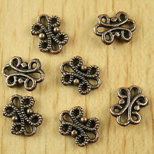 50pcs copper tone butterfly flower charms  H1910