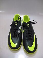 NIKE Mens MERCURIAL VICTORY Turf Soccer Shoes Black/Lime US 11.5 (509133-376)