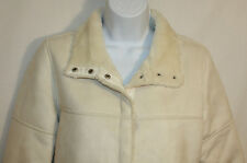 Calvin Klein Womens Ladies Ivory Plush Lined Winter Jacket Coat Size Small