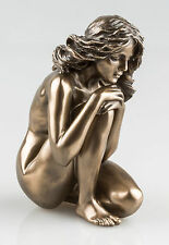 BRONZE FINISH NUDE WOMAN SCULPTURE NAKED FEMALE EROTIC ART STATUE NEW IN (75718)