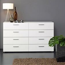 Tvilum Austin White 8 Drawer Double Dresser Made In Denmark 7007349 New