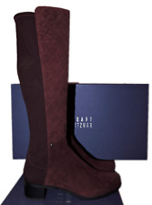 Stuart Weitzman Boot GUARD 5050 Stretch Tall Burgundy Quilted Suede Bootie 9.5