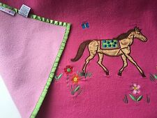 Hiccups Horsing Around Embroidered/Appliqued Fleece Bed Throw Horse Pony Bedding