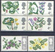 Great Britain 1967 FLOWERS (PHOSPHOR) (6) SG 717p-722p Unhinged Mint