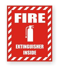 Fire Extinguisher Inside Safety Decal / Stickers / Industrial Safety Labels