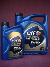 6 ltr. Elf evolution Full-Tech LLX 5W-30 Motoröl VW / MB / BMW Longlife
