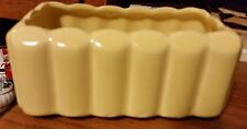 Vintage McCoy Yellow Rectangular Planter - Wide Ribbed
