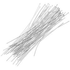 Silver Plated Head Pins 1 Inch, 22 Gauge (50)