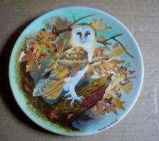 Coalport Collectors Plate BARN OWL From THE WISE OWL
