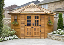 9' x 9' Penthouse Cedar Storage Shed  - ON SALE NOW