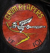 USN VF-101 GRIM REAPERS LEATHER SQUADRON PATCH