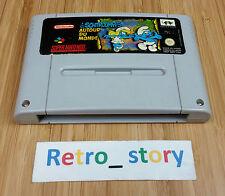 Super Nintendo SNES Les Schtroumpfs Autour Du Monde PAL