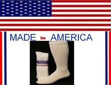 12 Pr Men Big & Tall x large white cotton Diabetic Crew Sock Size 13-15 gift him