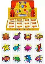 144x Mini Sealife Temporary Tattoos Boy Girls Party Bag & Stocking Fillers UK SL