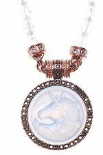 KIRKS FOLLY CLOUDWALKER DREAMSTONE MAGNETIC INTERCHANGEABLE NECKLACE COPPERTONE