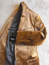 RARE! $2,895 NWOT DOLCE & GABBANA D&G Velvet Slim Blazer Jacket Size US44 EU 54