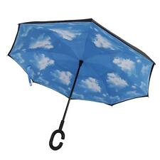 Anti-UV C-Handle Sun/Rain Opposite folding Upside Down/Reverse Inverted Umbrella