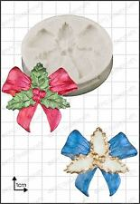 Silicone mould Holly Bow | Food Use FPC Sugarcraft FREE UK shipping!