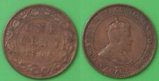 1908 Canada Large 1 Cent Graded as Fine