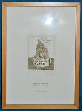 ANTICO QUADRO Pedroli INCISIONE epoca 1982 MILANO litografia ASTRATTO dipinto