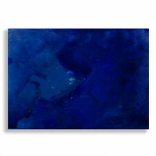 Blue Sky ACEO Abstract Acrylic a/ Watercolor Painting  by E Black