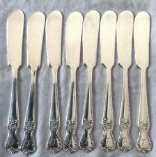 OLD COMPANY PLATE SIGNATURE 8 BUTTER SPREADERS MONOGRAM L SILVERPLATE FLATWARE