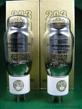 2 x 2A3 EH GOLD Trioden neu - factory matched pair new -  tube amp