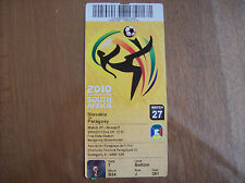 TICKET WORLD CUP 2010 SLOVAKIA-PARAGUAY 20/6/2010