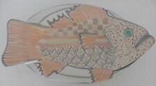 "RARE Mackenzie Childs Fish Plate Platter 15"" 1992 Victoria & Richard Collection"