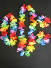 Summer Holiday Hawaiian Hula Flower Garland Lei Set Party Fancy Grass Skirt New