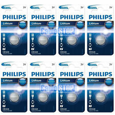 8 x Philips CR1620 3V Lithium Button Battery Coin Cell DL1620 - EXPIRY 2021